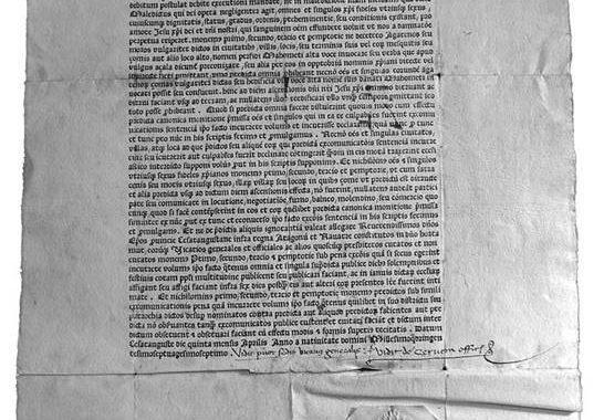 Vista completa de la monitoria de 1477 (Archivo de la Catedral de Huesca)