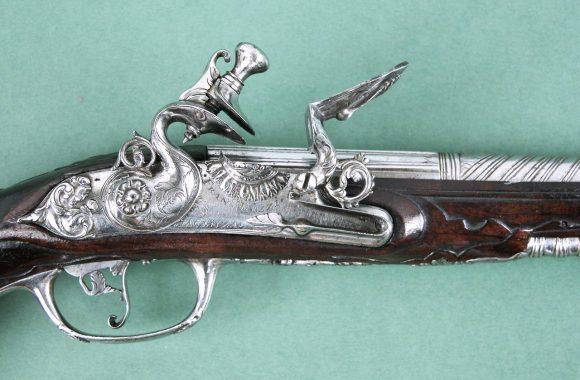 Pistola Italiana de Pedernal Época 1690-1710